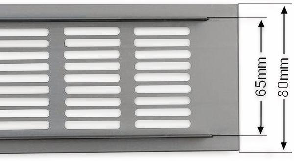 Lüftungsgitter aus Aluminium 40x8 cm - Produktbild 2