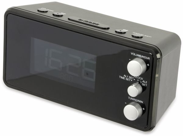 Uhrenradio, RW, schwarz, B-Ware - Produktbild 2
