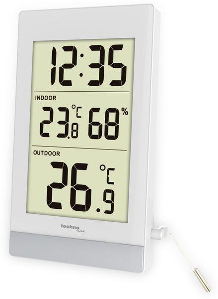 Innen-/Außenthermometer TECHNOLINE WS7039, weiß/silber