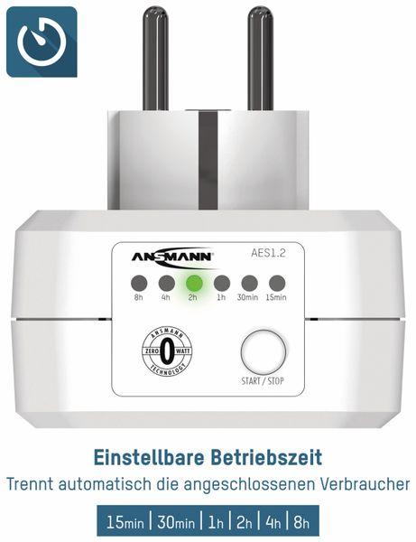 Zeitschaltuhr ANSMANN AES1, Steckdose mit ZeroWatt Technologie - Produktbild 2