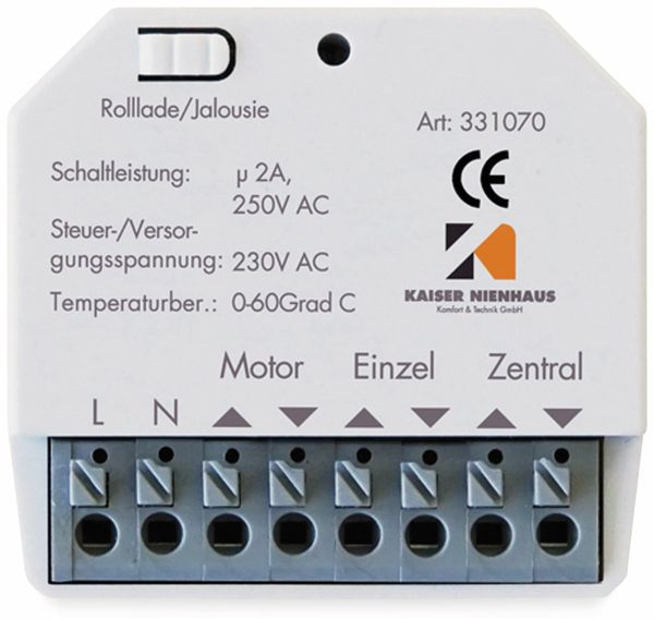 Mehrfachsteuergerät KAISER NIENHAUS, 1 Motor, Jalousien