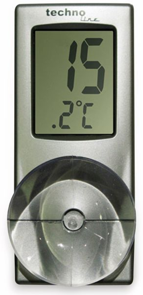 Digitales Fensterthermometer TECHNOLINE WS 7024, mit Saugnapf
