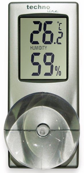Digitales Thermo-Hygrometer TECHNOLINE WS 7025, mit Saugnapf
