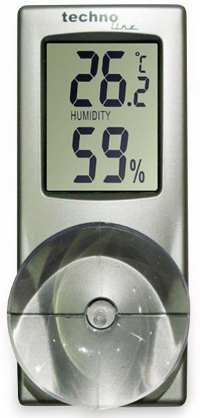 Digitales Thermo-Hygrometer TECHNOLINE WS 7025, mit Saugnapf - Produktbild 2
