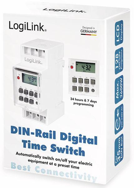 Digitale Wochenzeitschaltuhr LOGILINK ET0010, zur Hutschienenmontage - Produktbild 6