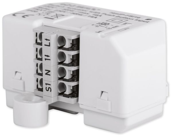 HOMEMATIC IP 154346A0 Schaltaktor mit Tastereingang (16A), Unterputz