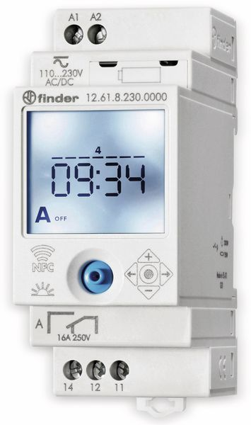 Zeitschaltuhr FINDER, 230 V, 12.61.8.230.0000