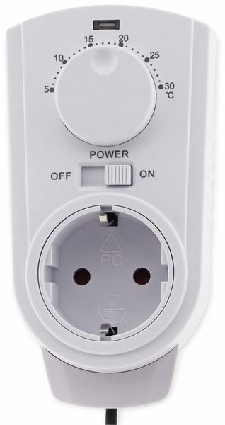 Steckdosenthermostat CHILITEC ST-50, analog, mit Außenfühler - Produktbild 2