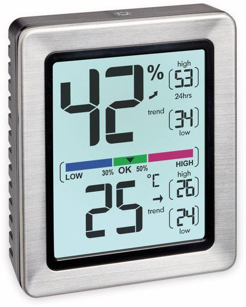 Digitales Thermo-Hygrometer TFA Exacto, 30.5047.54, silber - Produktbild 2