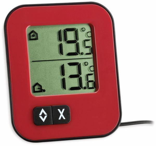 Innen-/Außenthermometer TFA Moxx, 30.1043.05, rot/schwarz