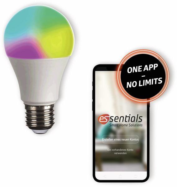 LED-Lampe ESSENTIALS, E27, 10 W, 806 lm, EEK A+, Birne, RGB