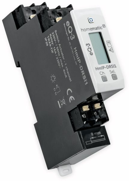 HOMEMATIC IP 154684A0, Schaltaktor für Hutschienenmonatage