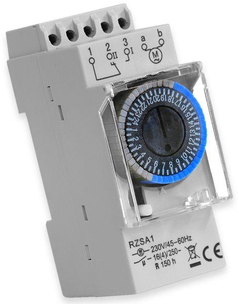 Zeitschaltuhr RELTECH RZSA1, 230 V, DIN-Schiene, Analog
