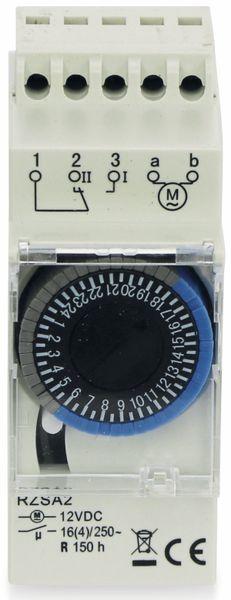 Zeitschaltuhr RELTECH RZSA2, 12 V-, DIN-Schiene, Analog