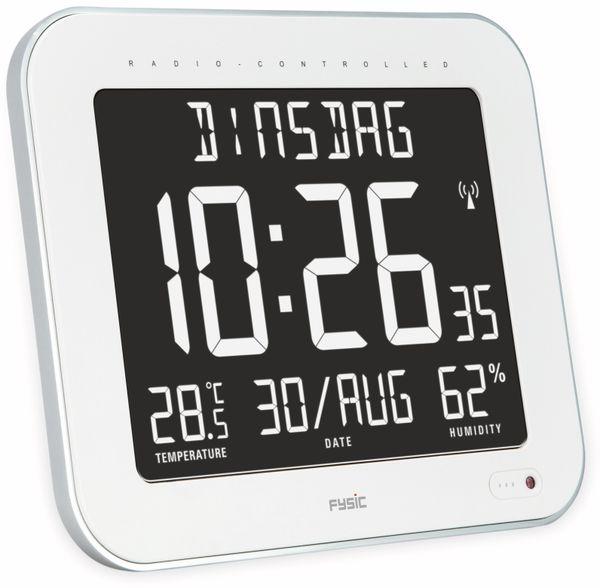 Digitale Tischuhr ALECTO FK-777, mit Thermometer und Hygrometer, weiß - Produktbild 2