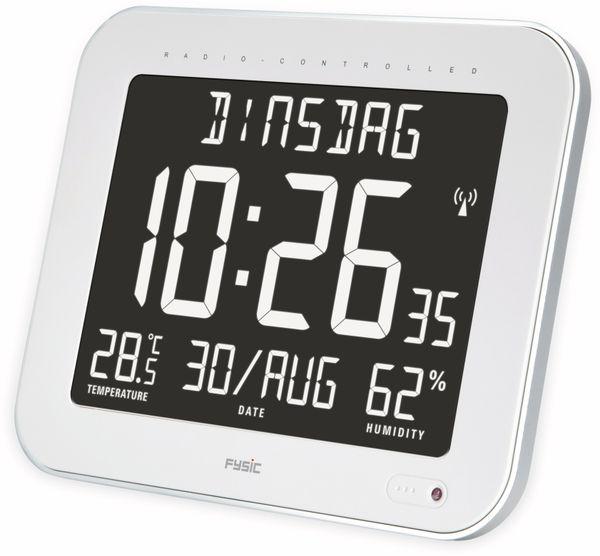 Digitale Tischuhr ALECTO FK-777, mit Thermometer und Hygrometer, weiß - Produktbild 3