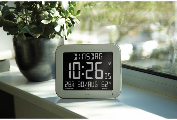 Digitale Tischuhr ALECTO FK-777, mit Thermometer und Hygrometer, weiß - Produktbild 4