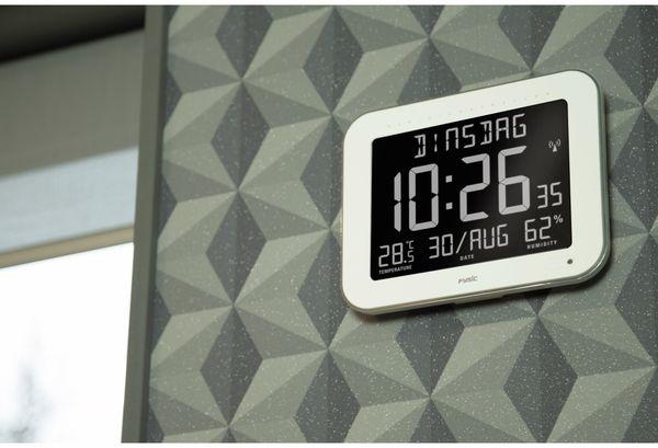 Digitale Tischuhr ALECTO FK-777, mit Thermometer und Hygrometer, weiß - Produktbild 5