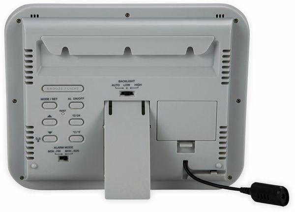 Digitale Tischuhr ALECTO FK-777, mit Thermometer und Hygrometer, weiß - Produktbild 6