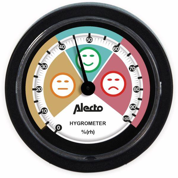 Analoges Hygrometer ALECTO WS-05, für den Innenbereich, schwarz