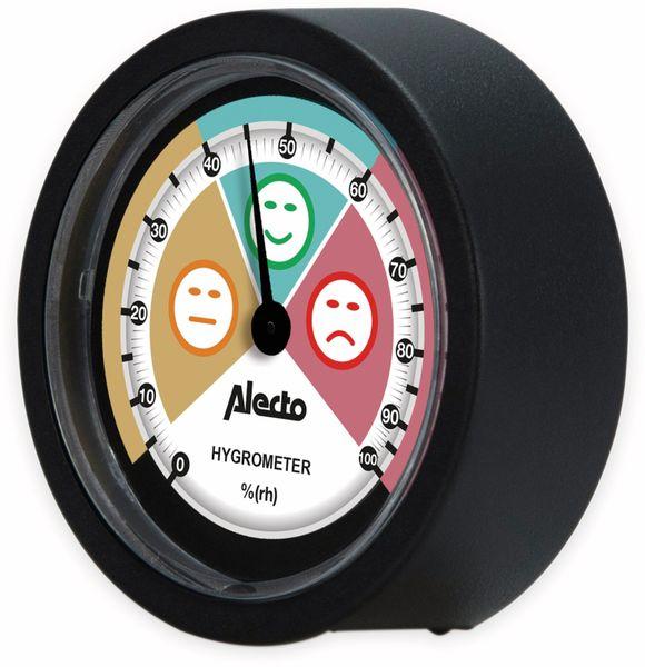 Analoges Hygrometer ALECTO WS-05, für den Innenbereich, schwarz - Produktbild 2