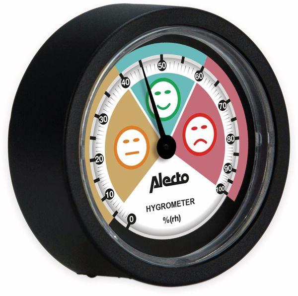 Analoges Hygrometer ALECTO WS-05, für den Innenbereich, schwarz - Produktbild 3