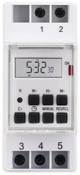 Digitale Zeitschaltuhr SONERO S-DOTH10, 3500 W, DIN-Schiene, weiß - Produktbild 2