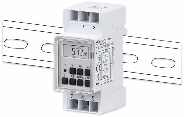 Digitale Zeitschaltuhr SONERO S-DOTH10, 3500 W, DIN-Schiene, weiß - Produktbild 3