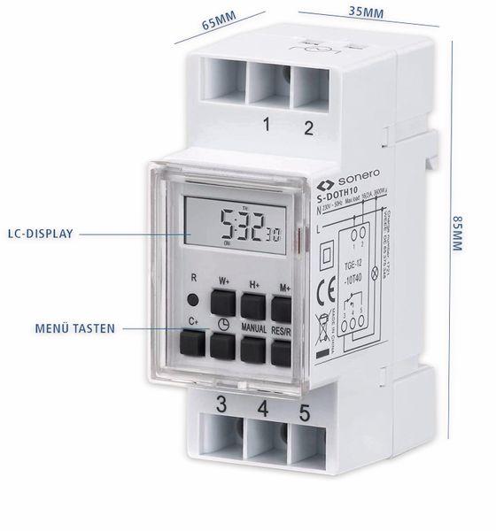 Digitale Zeitschaltuhr SONERO S-DOTH10, 3500 W, DIN-Schiene, weiß - Produktbild 5
