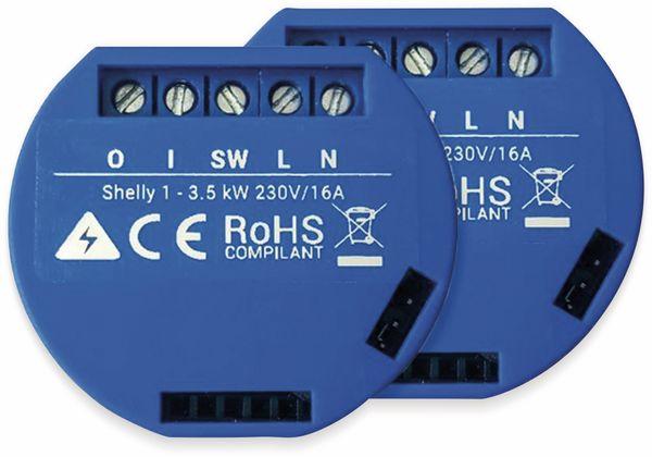 WiFi-Switch SHELLY 1, 1 Kanal-Schalter, 2er Set