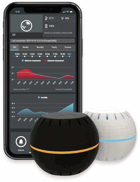 Luftfeuchtigkeits- und Temperatursensor, SHELLY H&T, schwarz - Produktbild 2