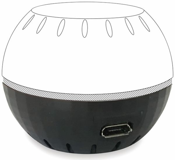USB-Adapter SHELLY für Shelly H&T, schwarz