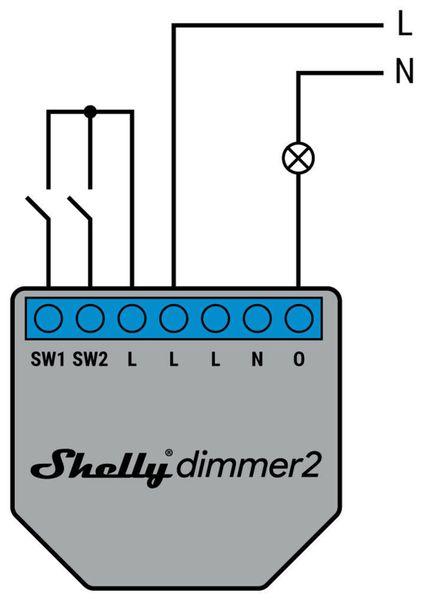 WiFi-Dimmer SHELLY 2 - Produktbild 2