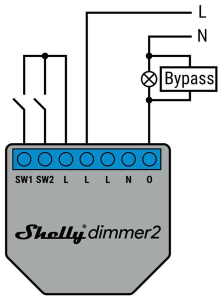 WiFi-Dimmer SHELLY 2 - Produktbild 3