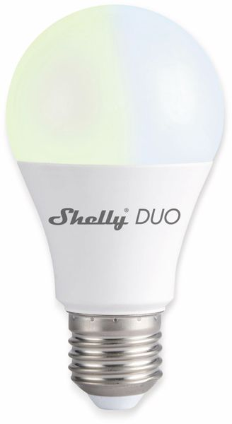 LED-Lampe SHELLY Duo E27, 9 W, 800 lm, dimmbar