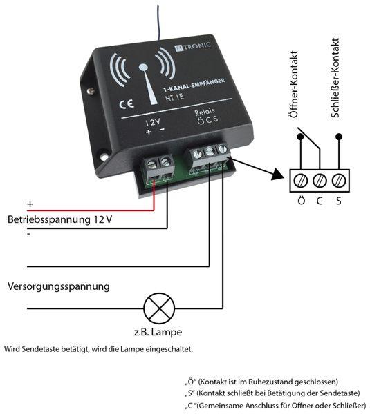 Funk-Empfänger H-TRONIC HT1E, 1-Kanal - Produktbild 2