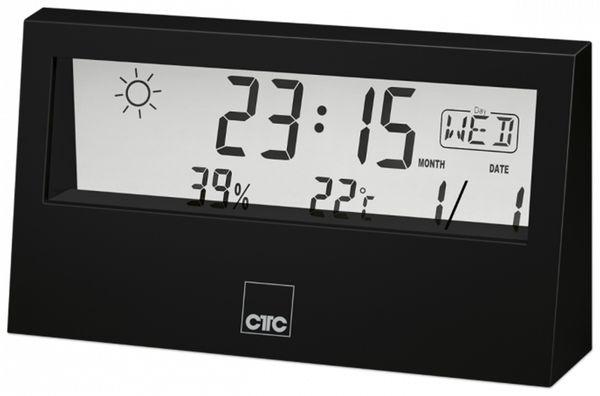 Wetterstation CLATRONIC WSU 7022, schwarz