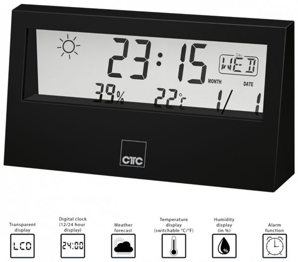 Wetterstation CLATRONIC WSU 7022, schwarz - Produktbild 3