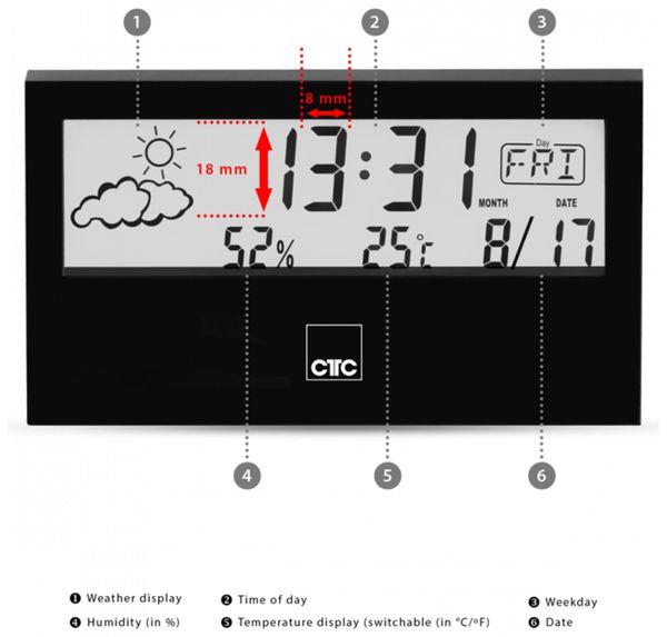 Wetterstation CLATRONIC WSU 7022, schwarz - Produktbild 4