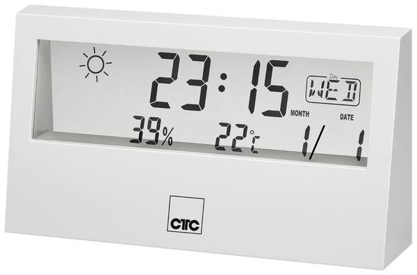 Wetterstation CLATRONIC WSU 7022, weiß