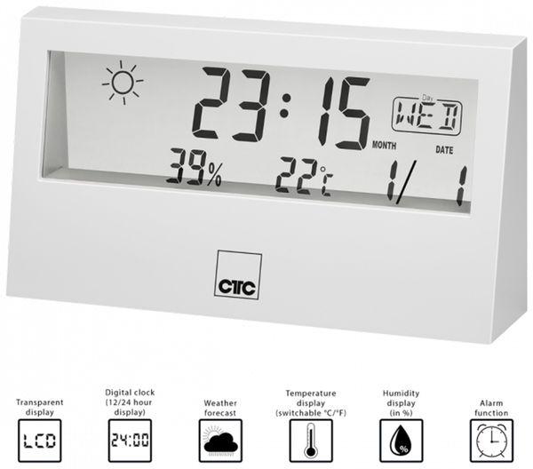 Wetterstation CLATRONIC WSU 7022, weiß - Produktbild 2