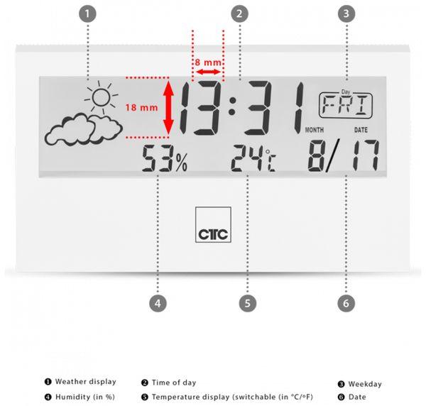 Wetterstation CLATRONIC WSU 7022, weiß - Produktbild 3