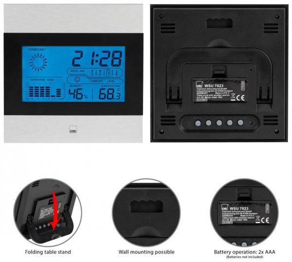 Wetterstation CLATRONIC CTC WSU 7023 - Produktbild 3