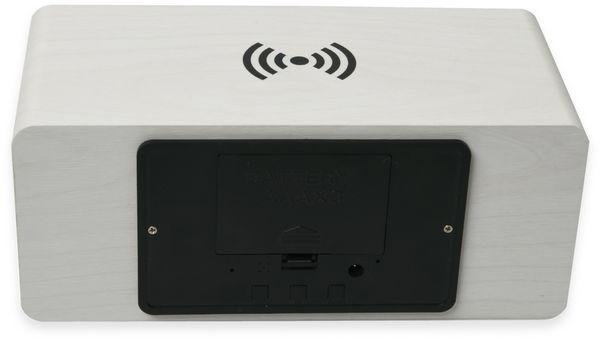 Digitalwecker NABO CL 210, mit QI-Ladefunktion und Holzoptik, weiß - Produktbild 5