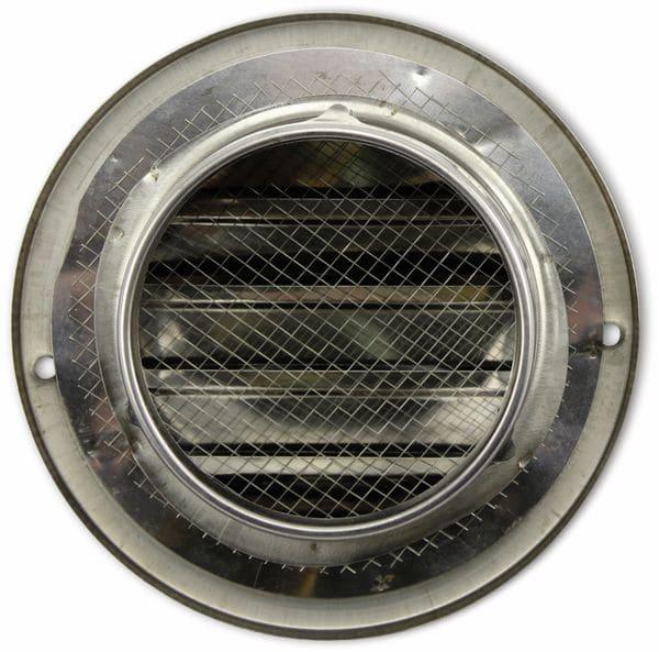 Lüftungsgitter, Kalottenform, 80 mm, Edelstahl, gebürstet - Produktbild 2