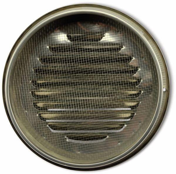 Lüftungsgitter, Kalottenform, 200 mm, Edelstahl, gebürstet - Produktbild 2