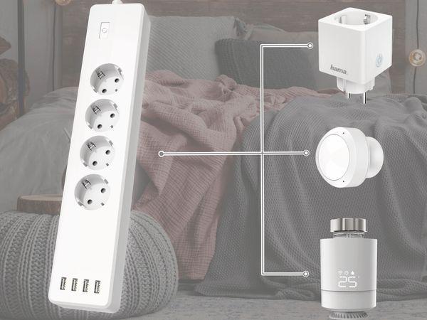 WLAN-Steckdosenleiste HAMA, 4-fach und 4-fach USB - Produktbild 7