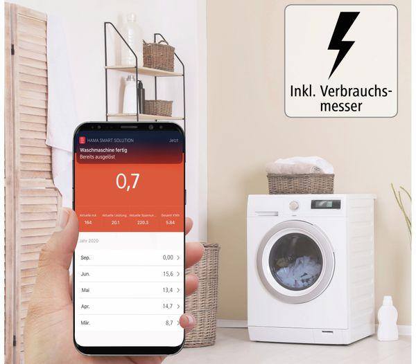 WLAN-Steckdose HAMA Mini, 3680 W, 16 A, mit Stromverbrauchsmessung - Produktbild 3