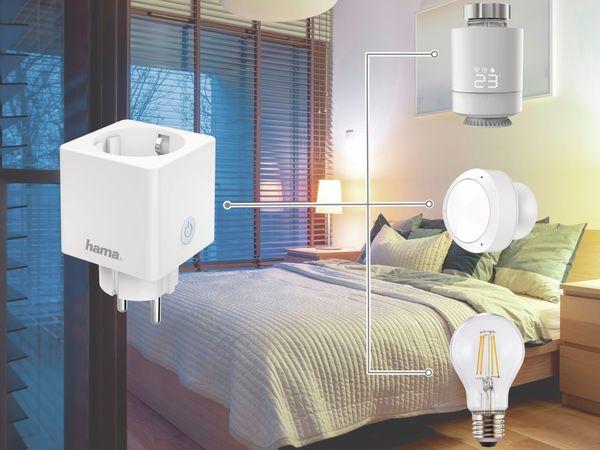 WLAN-Steckdose HAMA Mini, 3680 W, 16 A, mit Stromverbrauchsmessung - Produktbild 8