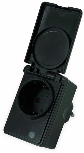 WLAN-Steckdose DENVER PLO-109, Outdoor, Smart Home, 16 A - Produktbild 2
